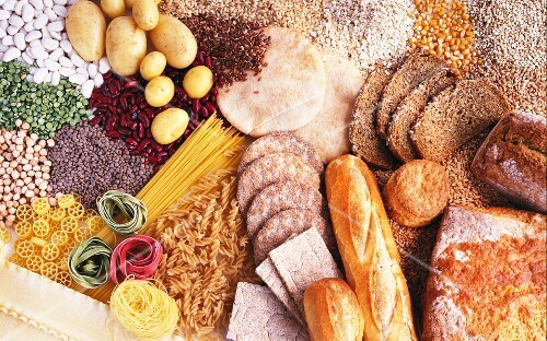 Carbohydrate-rice foods (bread, pasta, legumes, corn, potatoes)