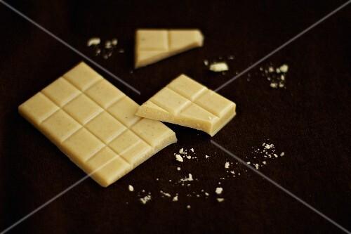 Homemade white vanilla chocolate