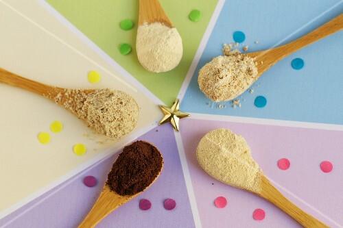 Gluten-free ingredients (grape seed powder, baobab powder, lucuma powder, tigernut powder, brown millet flour)