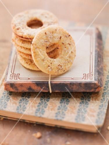 Hazelnut butter biscuits
