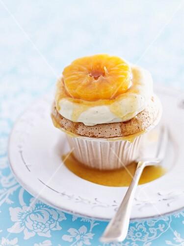 A mandarin cupcake