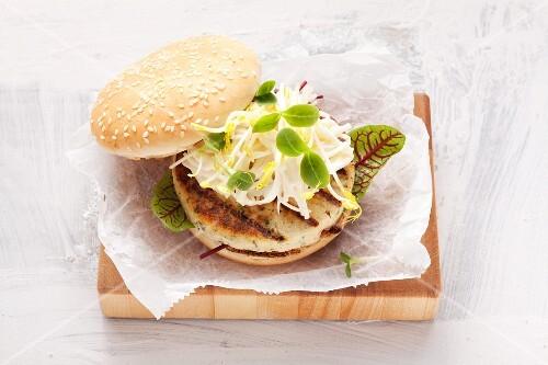 A soya burger