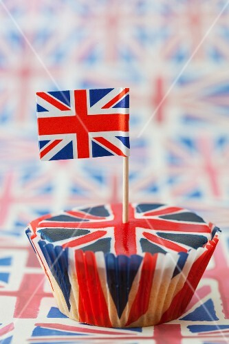 A Union Jack cupcake