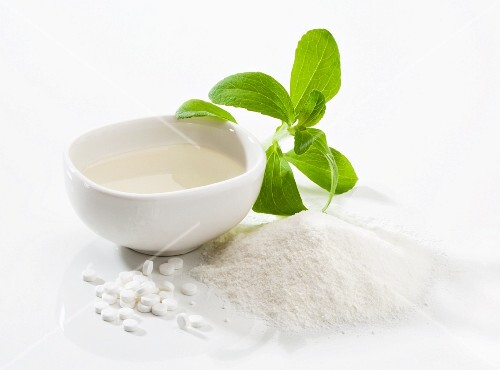 Stevia: leaves, powder, tablets and liquid