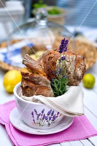 Mediterranean chilli baguette with lavender