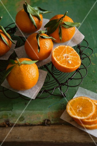 Clementines, whole and halved and sliced