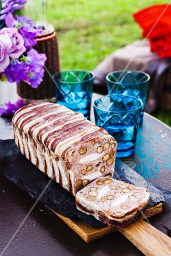 Chicken and almond terrine