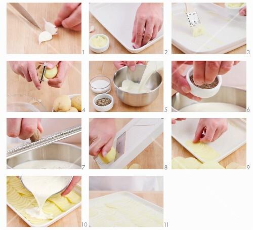 Kartoffelgratin zubereiten
