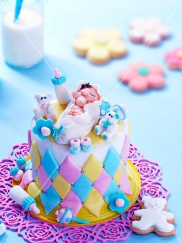 A celebratory cake for newborn baby