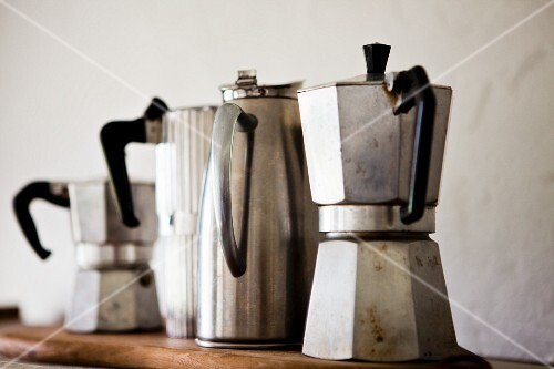 Old espresso and coffee jugs