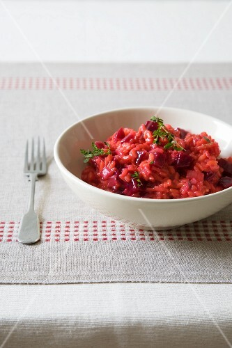 Bowl of Beet Risotto