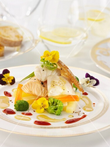 Gourmet fish with vegetables