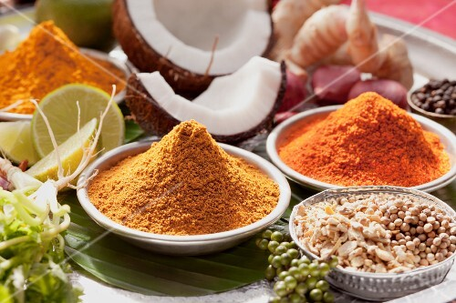 Various spices from Thailand