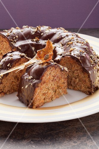 Hazelnut and pumpkin cake