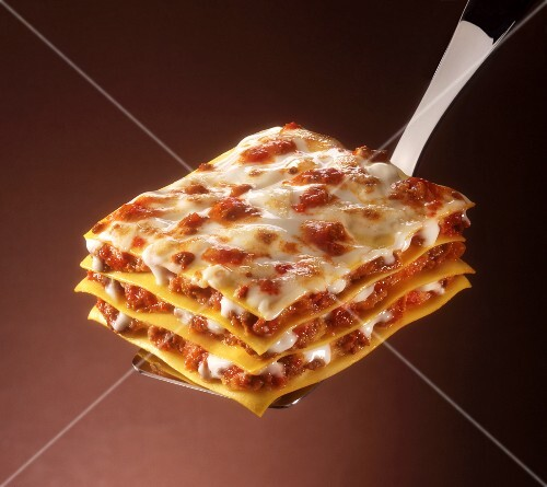 Lasagne (pasta sheets with meat filling, Italy)