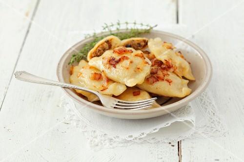 Pirogi with sauerkraut and mushrooms