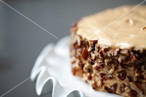 Salted Caramel Chocolate Cake; Close Up