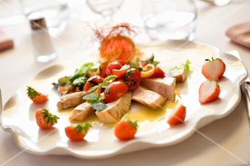 Tagliata di pesce spada (swordfish steak with tomatoes)