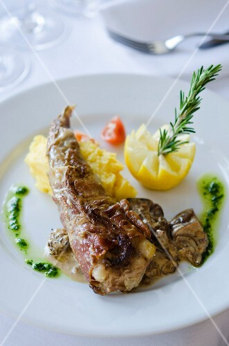 Monk fish tail with mash