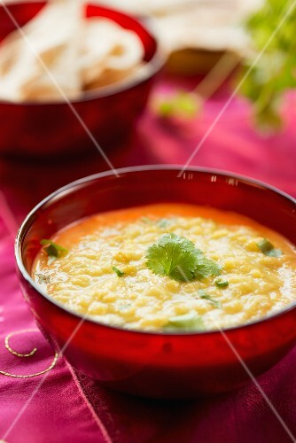 Daal with coriander