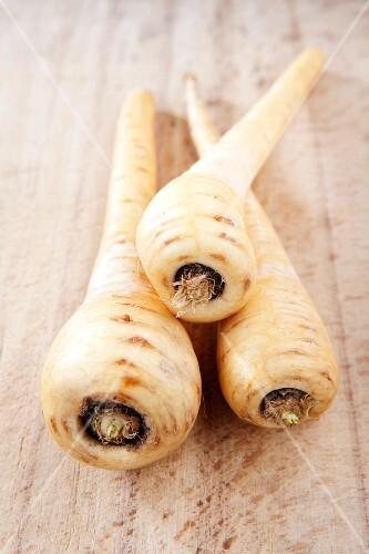 Three parsnips