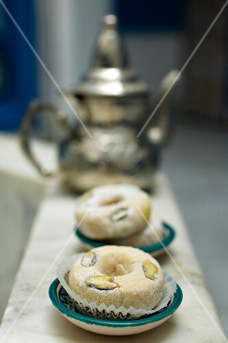 Almond biscuits and tea (Tunisia)