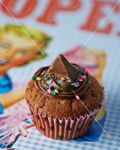 A Toblerone cupcake