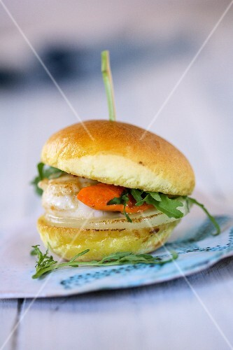 Scallop burger