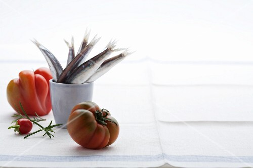 Sardines and tomatoes