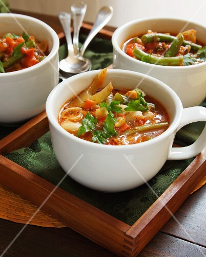 Three Cups of Vegetable Soup