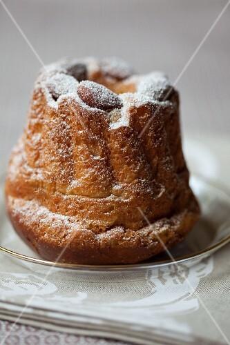 Almond Bundt cake with icing sugar