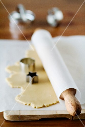 Rolled-out biscuit dough
