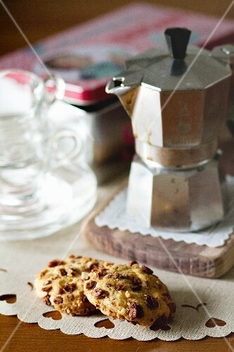 Muesli biscuits with chocolate chips
