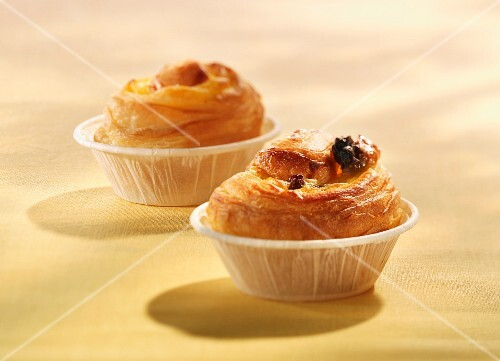 Danish pastries in paper muffin cups