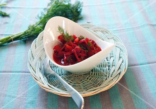 Meatless borscht