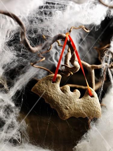 'Bat' cookie ornament in the fog