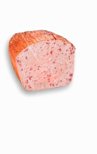 A piece of coarse meatloaf