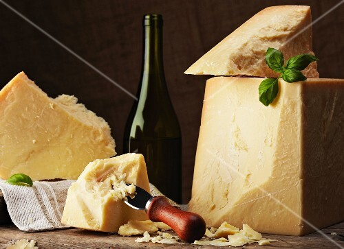 Still life with Parmesan cheese