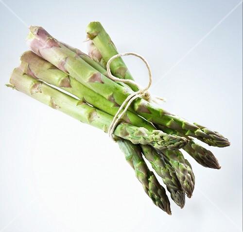 A bundle of fresh green asparagus