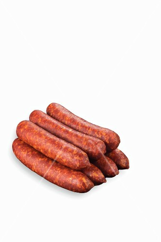 Raw Polish sausages