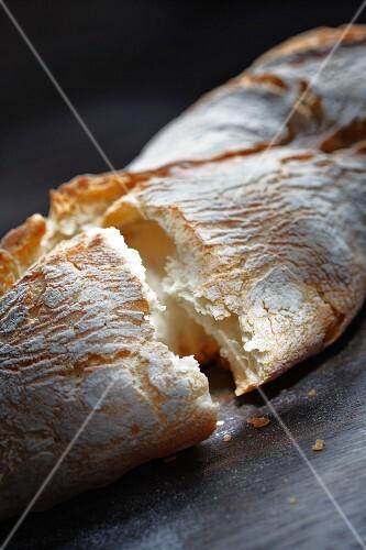 White bread, torn open