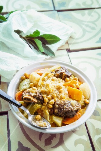 Couscous with vegetables and beef