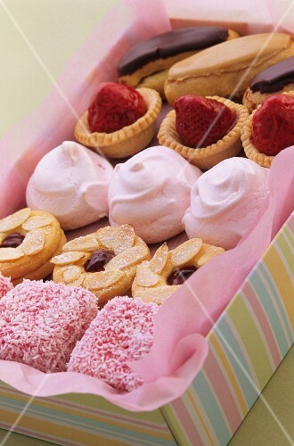 Petits fours in a gift box