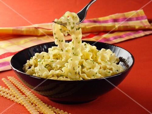 Reginette pasta with herbs