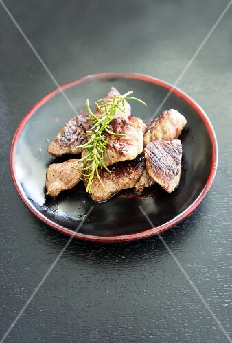 Wagyu beef, roasted, with rosemary