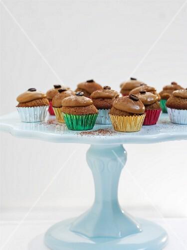 Festive Irish coffee cupcakes