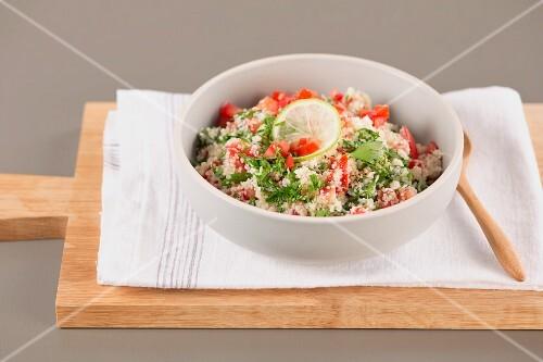 Tabbouleh (Arabic bulgur salad with parsley)
