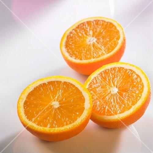 Three Orange Halves
