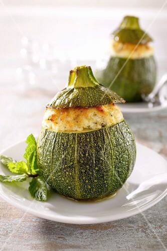 Zucchine ripiene (stuffed courgettes, Italy)
