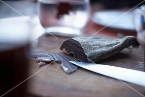 Bindenfleisch; Air-Dried Meat that is Produced in the Canton of Graubünden, Switzerland